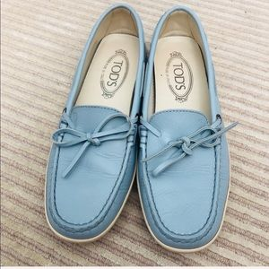 TODS LOAFERS BLUE SZ 38.5